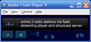 flash streaming player